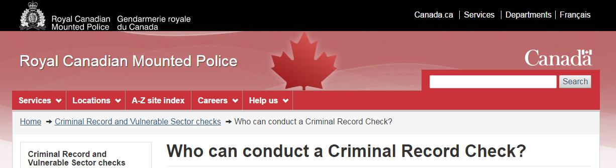 如何办理加拿大无犯罪记录证明?
