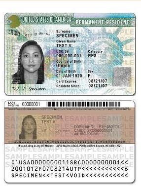 美国最新版本绿卡