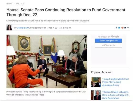 重磅 | EB5法案顺利搭车国会预算案,再次获短暂延期!